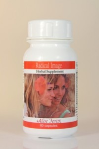 Aloe Ferox Radical Image is a herbal treatment which improves the skin's health and attractiveness. Includes Aloe whole-leaf, Aloe Bitters, Dandelion, Zinc and Selenium.