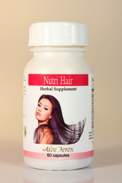 Aloe Ferox Nutri-Hair Herbal Supplement is a natural hair care, herbal treatment that helps to maintain healthier hair growth and slow hair loss by stimulating hair regrowth.